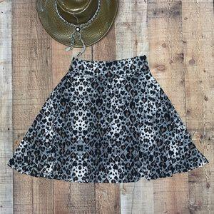 LulaRoe | Cheetah Mini Plum Skate Girl Style Skirt